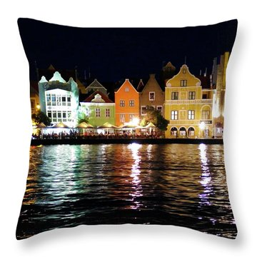 Throw Pillow featuring the photograph Willemstad, Island Of Curacoa by Kurt Van Wagner
