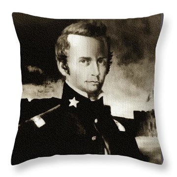 William B Travis - The Alamo Throw Pillow