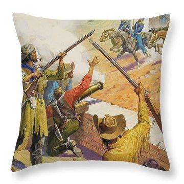 William Bent  Throw Pillow by Severino Baraldi