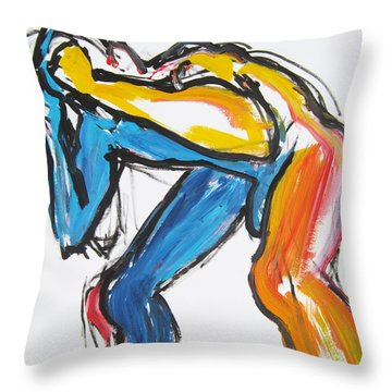 William Flynn Block Throw Pillow by Shungaboy X