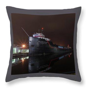 William G Mather At Night  Throw Pillow