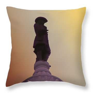 William Penn Throw Pillow by Bill Cannon