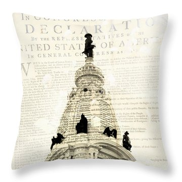 William Penn City Hall V1 Throw Pillow