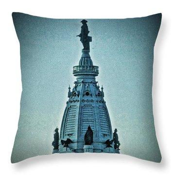 William Penn On Top Throw Pillow