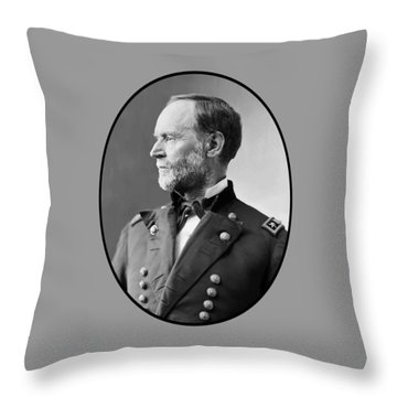 William Tecumseh Sherman Throw Pillow by War Is Hell Store