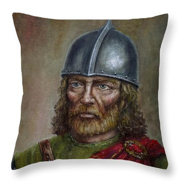William Wallace Throw Pillow by Arturas Slapsys