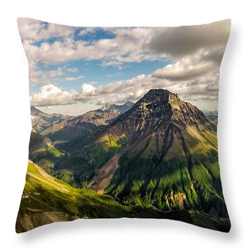 Williams Peak Alaska Throw Pillow