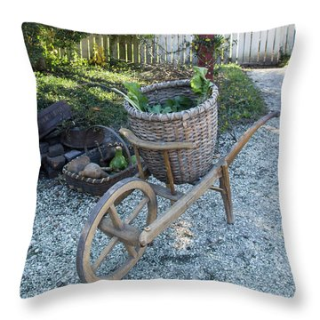 Williamsburg Basket Cart Throw Pillow