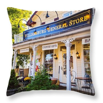 Williamsburg General Store Mass Throw Pillow