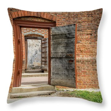 Williamsburg Public Gaol Throw Pillow