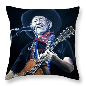 Willie Nelson 2 Throw Pillow