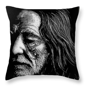 Willie Throw Pillow by Paul Foutz