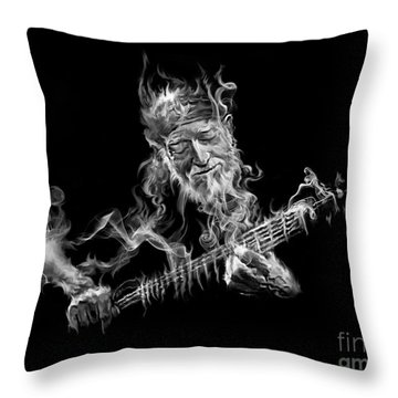 Willie - Up In Smoke Throw Pillow