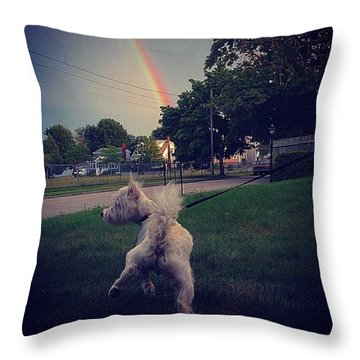 Gold At The End Of The Rainbow Throw Pillow
