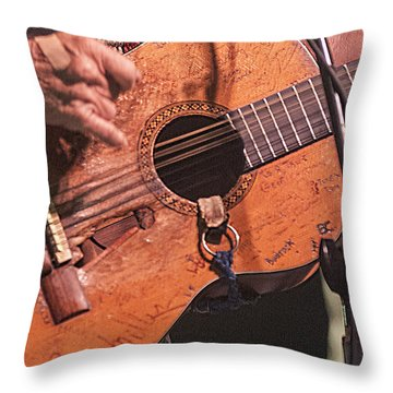 Willie's Guitar Throw Pillow