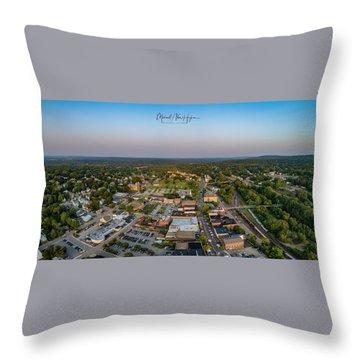 Willimantic Panorama Throw Pillow