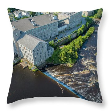 Willimantic River And Mill #2 Throw Pillow