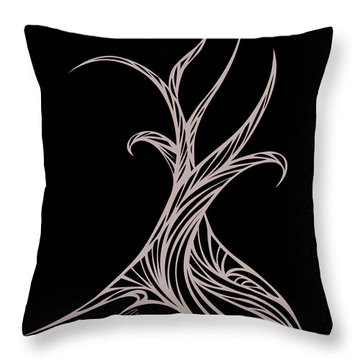 Willow Curve Throw Pillow