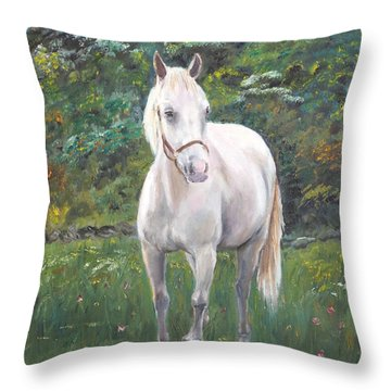 Throw Pillow featuring the painting Willow by Elizabeth Lock