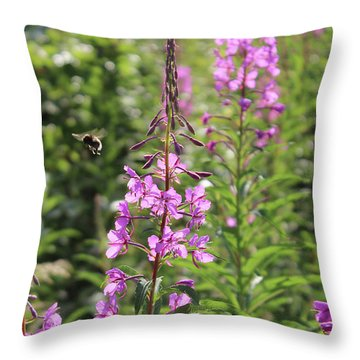 Willow Herb Throw Pillow