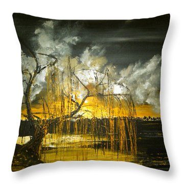 Willow On The Shore Throw Pillow