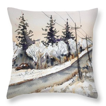 Willow Springs Road Throw Pillow