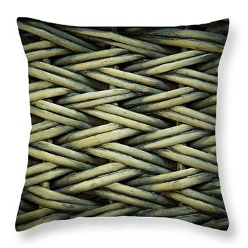 Throw Pillow featuring the photograph Willow Weave by Les Cunliffe