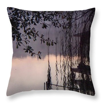 Throw Pillow featuring the photograph Willow's Dawn by Betty Northcutt