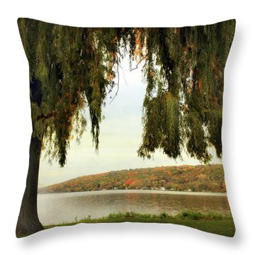 Willows Of Stewart Park Throw Pillow