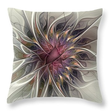 Willowy Mum Throw Pillow by Kim Redd