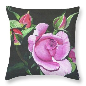Will's Rose Throw Pillow