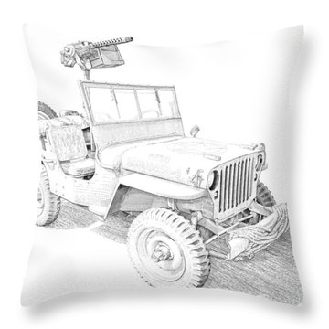 Willy In Ink Throw Pillow
