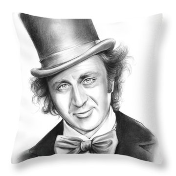Willy Wonka Throw Pillow