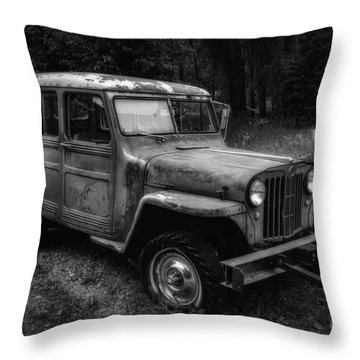 Willys Jeep Station Wagon Throw Pillow