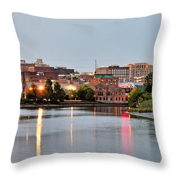 Wilmington Delaware At Dusk Throw Pillow by Brendan Reals