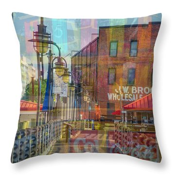 Wilmington North Carolina Riverfront Throw Pillow