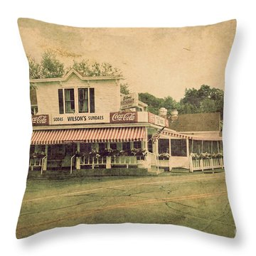 Wilson's Restaurant And Ice Cream Parlor Throw Pillow by Joel Witmeyer