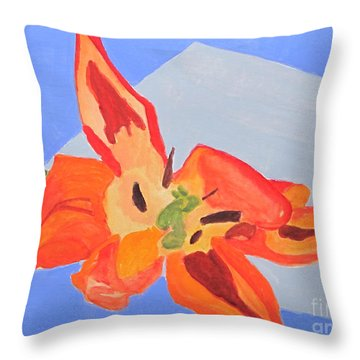 Wilted Tulip Throw Pillow