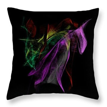 Wilted Tulips Throw Pillow