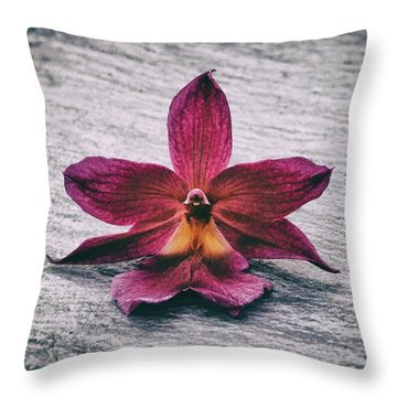 Wilting Orchid  Throw Pillow