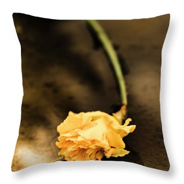 Wilting Puddle Flower Throw Pillow
