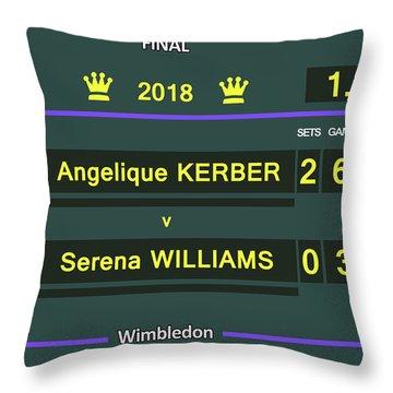 Wimbledon Scoreboard - Customizable - 2017 Muguruza Throw Pillow