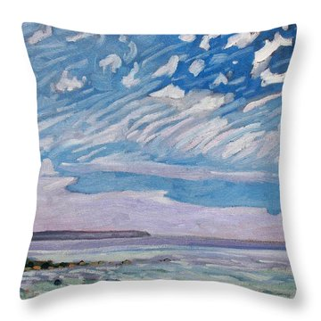 Wimpy Cold Front Throw Pillow by Phil Chadwick