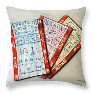 Win Place And Show  Throw Pillow by Thomas Allen Pauly