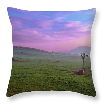 Winchester Windmill Pano View Throw Pillow