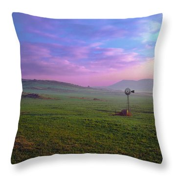 Winchester Windmill Throw Pillow