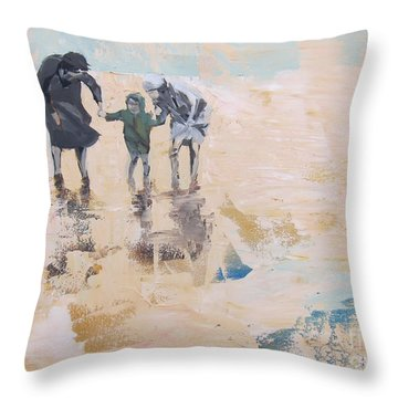 Wind And Kids Throw Pillow