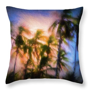 Wind And Palms Throw Pillow