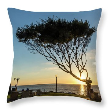 Wind Blown Tree Throw Pillow