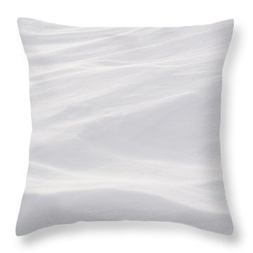Wind Carved Snow Throw Pillow